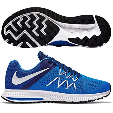 Nike Air Zoom Winflo 3 Men's Running Shoes Photo Blue/Deep RoyalBlue/White D