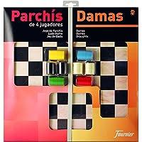 Fournier - Tablero Parchís/Damas y fichas, 40 x