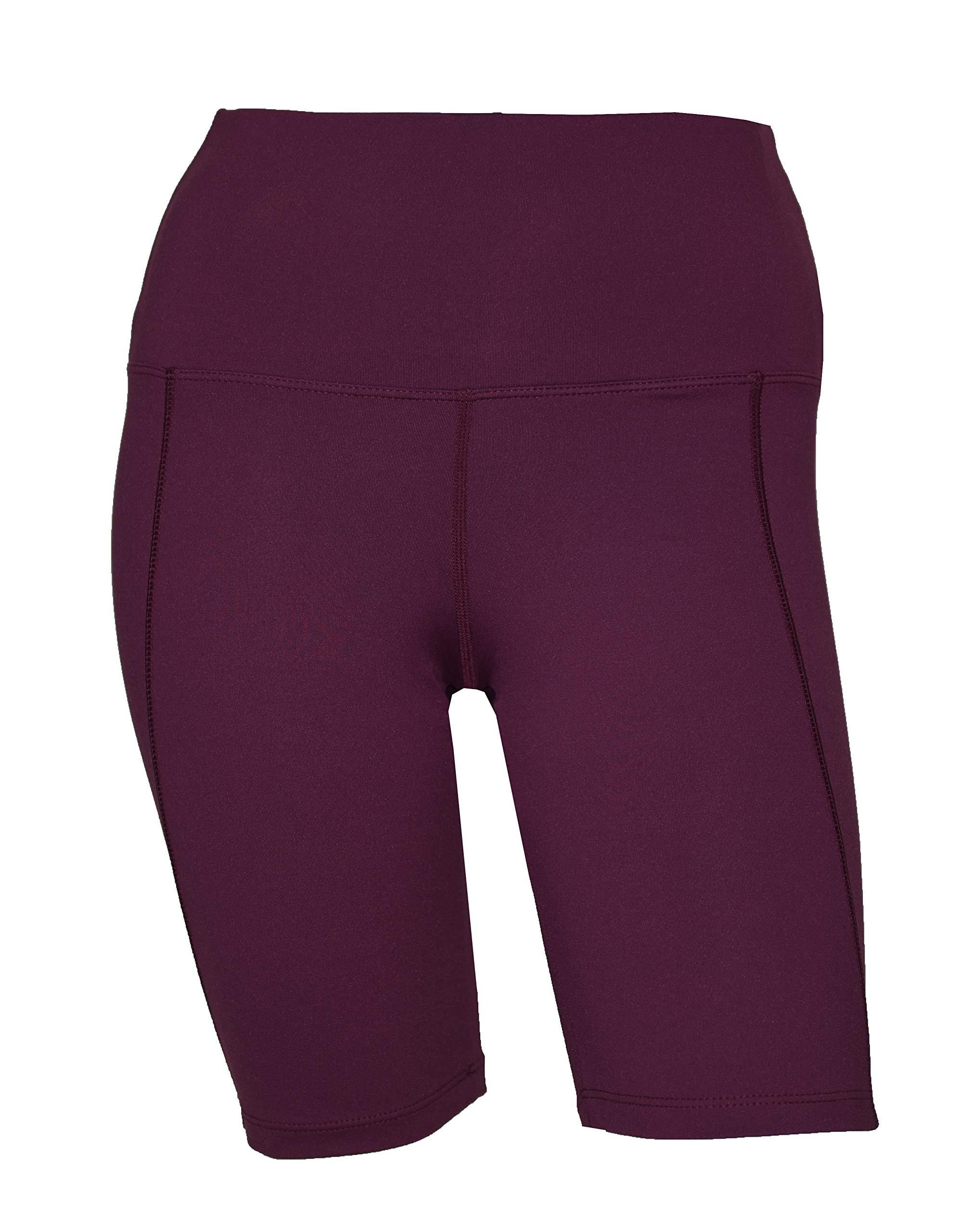 Private Island Women UV Swim Rash Guard Pocket Shorts Pants Yoga (XXXL, DWine) by Private Island