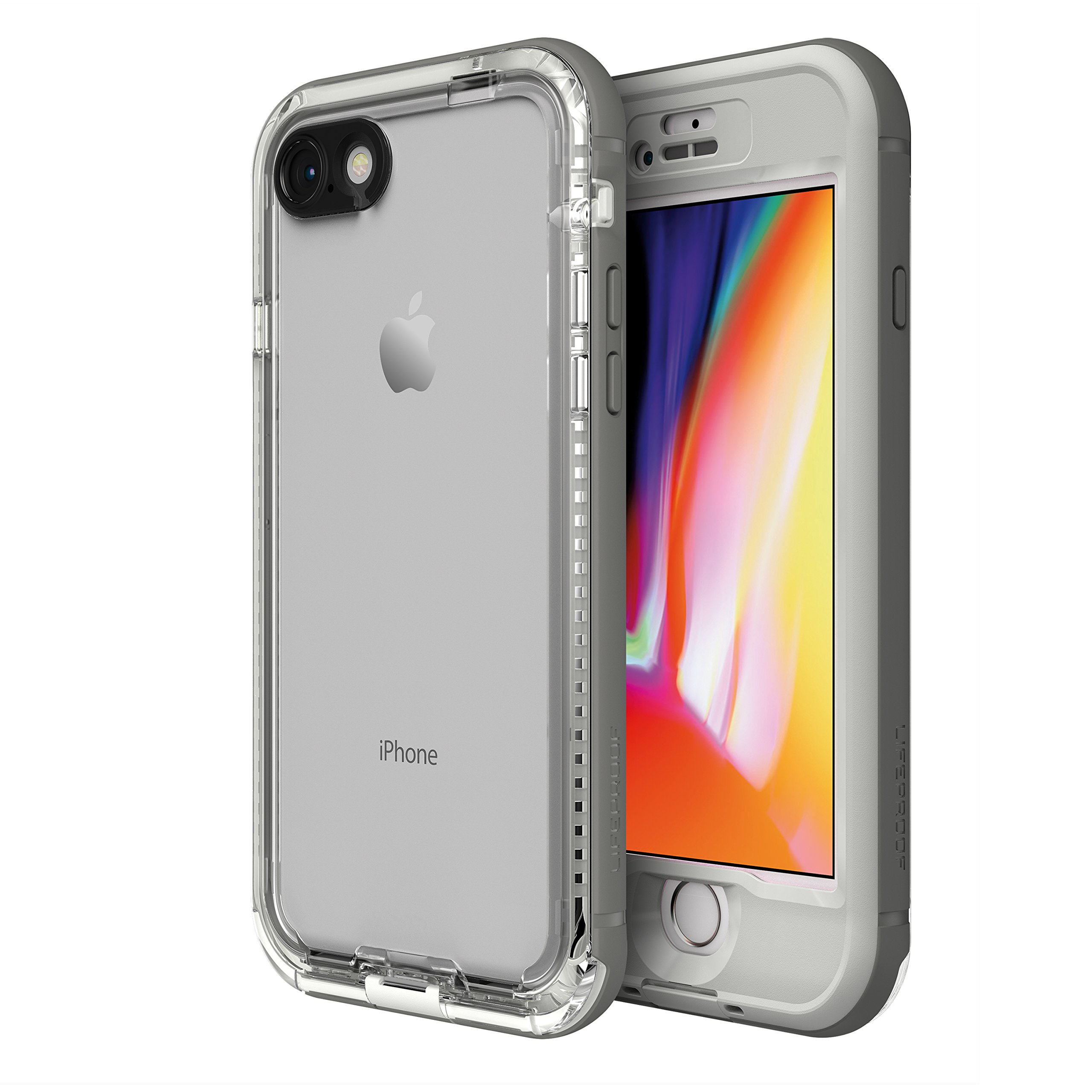 LifeProof NÜÜD SERIES Waterproof Case for iPhone 8 (ONLY) - Retail Packaging - SNOWCAPPED (BRIGHT WHITE/SLEET)