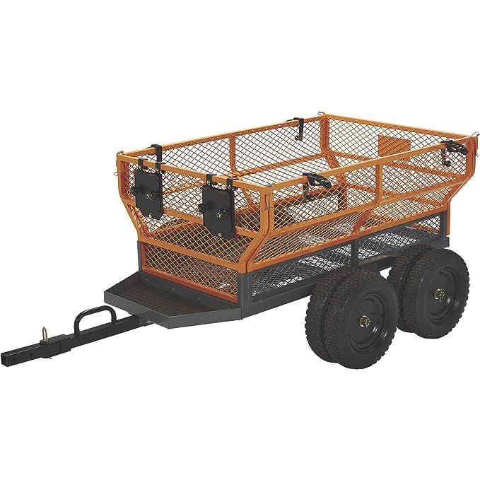 Bannon utilidad remolque – 1600-lb. Capacidad, 24 Cu. Ft.: Amazon.es: Jardín