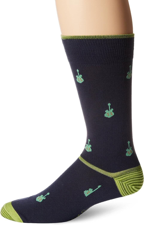 Sock Size:10-13//Shoe Size Navy 6-12 Robert Graham Mens Medusa Sock