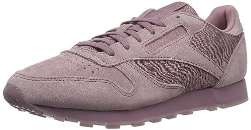 8d7b66b64eaa7f Reebok Women s Classic Leather Lace Fashion Sneakers Grey White ...