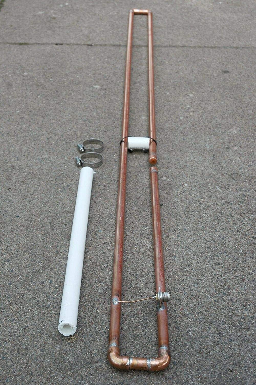 Waller PAA Antena de Base de 2 Metros VHF Slim Jim Amateur ...
