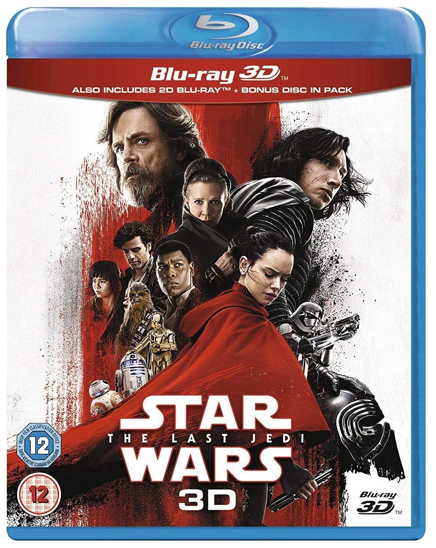 Star Wars: The Last Jedi [Blu-ray 3D + Blu-ray] Carrie Fisher Daisy Ridley Adam Driver Billie Lourd
