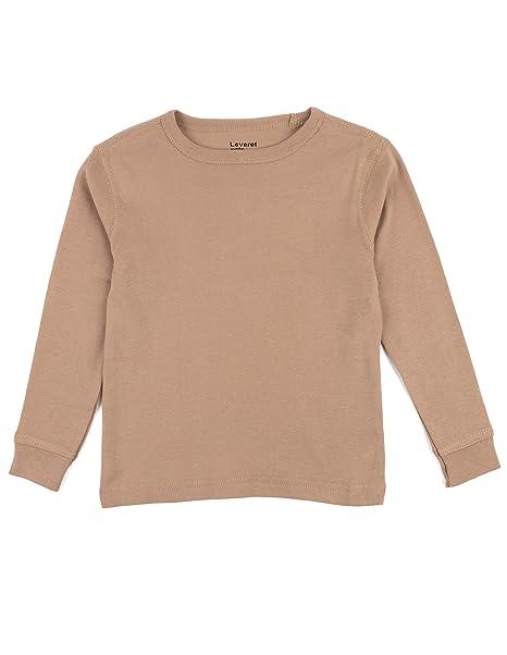 c40ae25cf Amazon.com  Leveret Long Sleeve Boys Girls Kids   Toddler T-Shirt ...