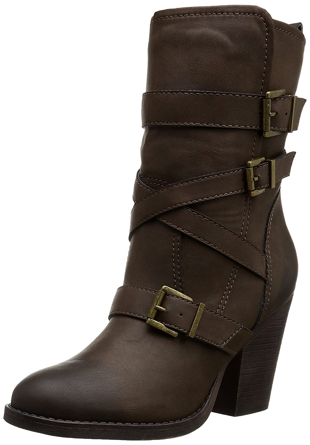 Madden Girl Women's Kloo Engineer Boot B010TIXSJW 6 B(M) US|Brown Paris