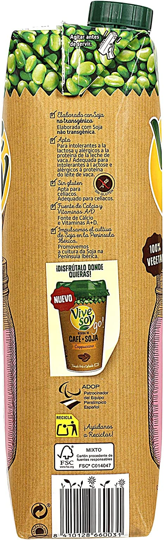 VIVESOY bebida de soja ligera envase 1 lt