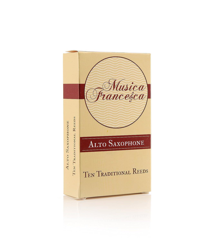 Musica Francesca Alto Saxophone Reeds, Set of 10 (Strength 3)