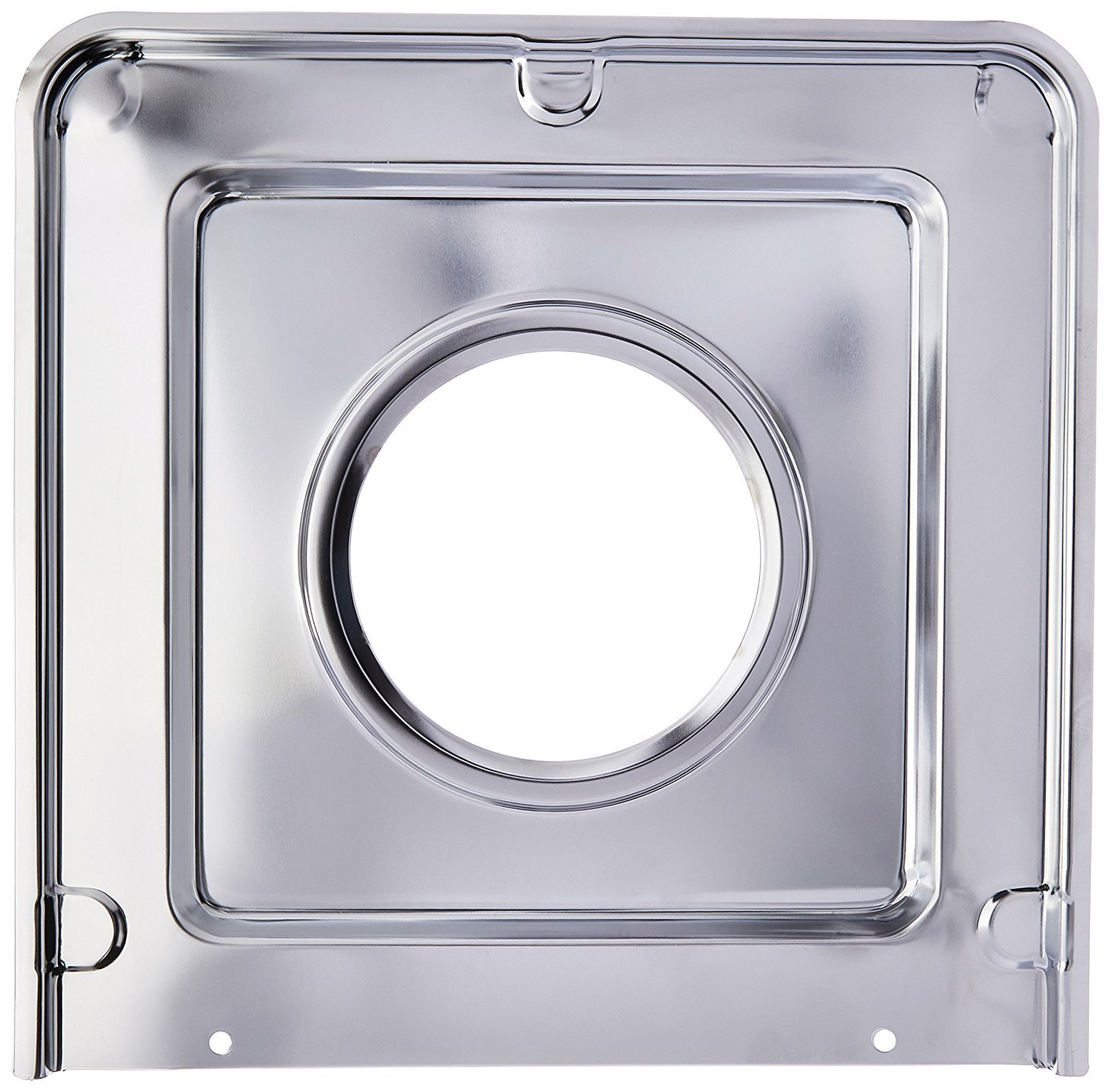 Range Kleen SGP401 Style J Chrome-Plated Square Drip Pan, 9.125 x 9.3125 Inches