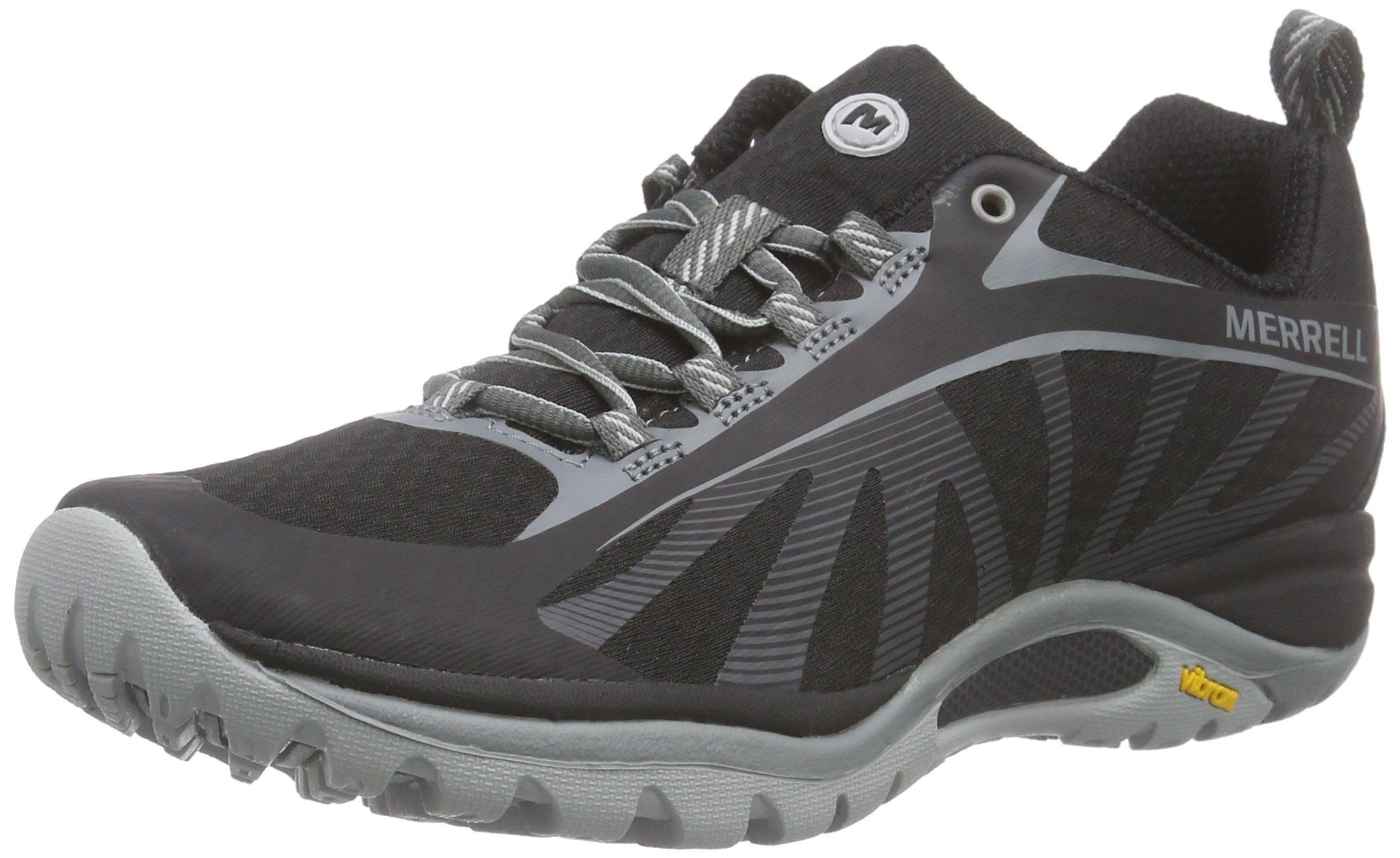 Merrell Women's Siren Edge Hiking Shoe, Black, 9 M US