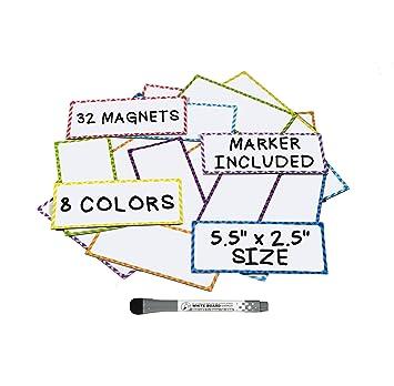 Amazon.com: Etiquetas magnéticas de borrado en seco (32 ...