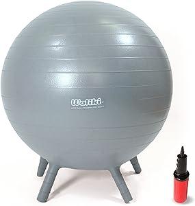 "WALIKI Chair Ball with Feet for Kids   Alternative Classroom Seating   Balance Ball   18""/45CM Gray"