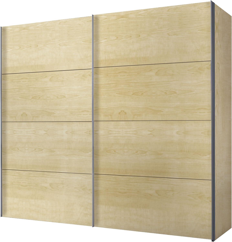 Express Muebles 49250 – 033 Armario de Puertas correderas 250 x 216 x 68 cm/Arce imitación: Amazon.es: Hogar