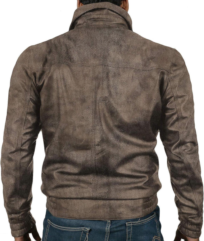 Black, Aviator Jacket Laverapelle Mens Genuine Lambskin Leather Jacket 1501819