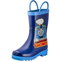 Thomas The Tank Engine Kids Boys' Character Printed Waterproof Easy-On Rubber Rain Boots (Toddler/Little Kids)