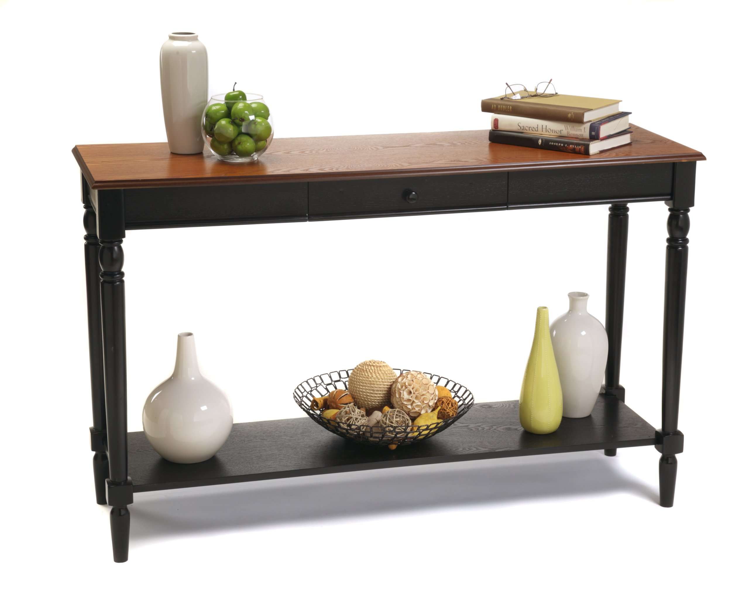 Convenience Concepts French Country Console Table with Drawer and Shelf, Natural