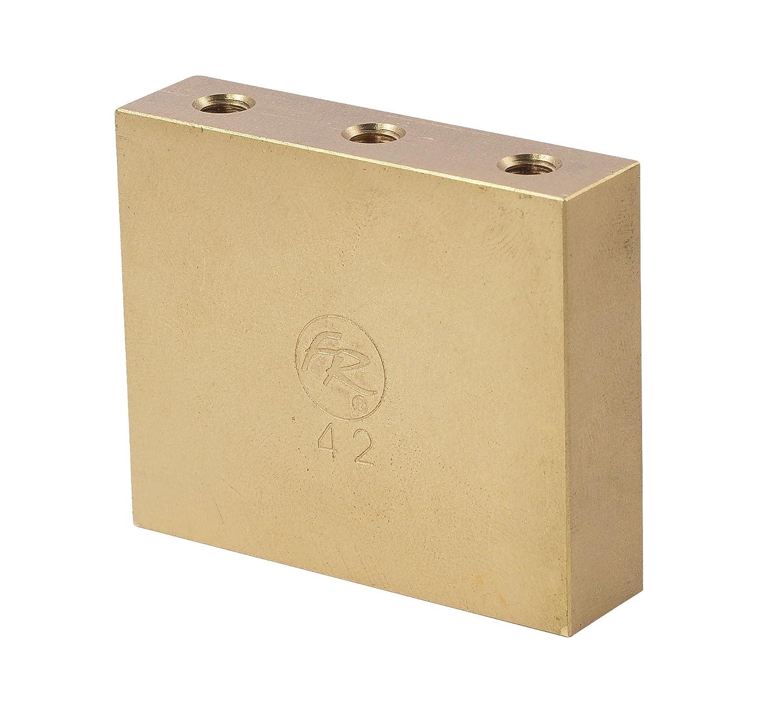 FLOYD ROSE BRASS脂肪トレモロブロック - 42ミリメートル   B01K5SDCX8