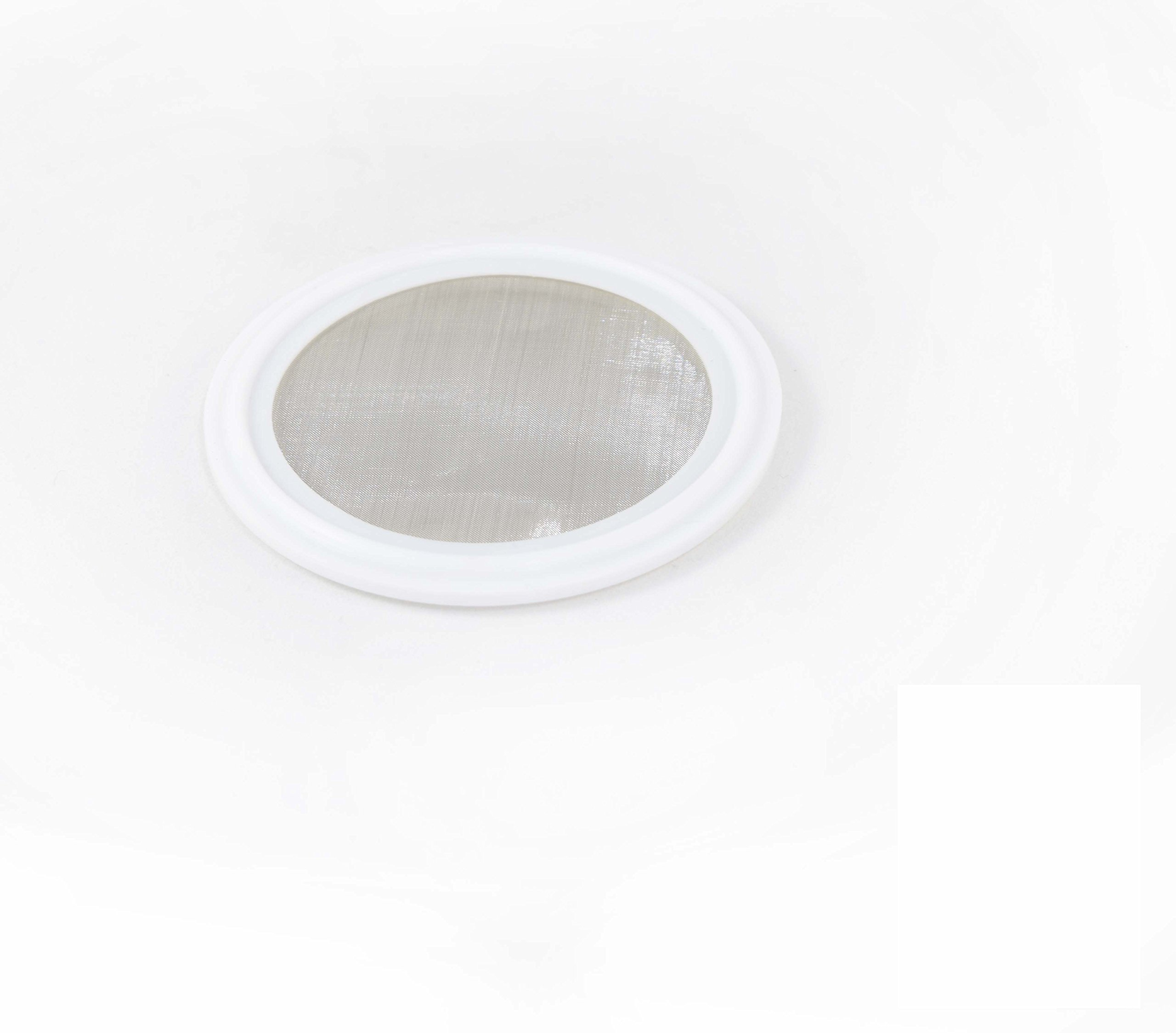 1.5'' Tri Clamp (Teflon) PTFE Screen Gasket 316 (20Uf Micron) Screen Stainless Steel Pharmaceutical Grade Filter Mesh. PTFE Inverted Envelope With Floating Stainless Mesh! With FDA Certification (1.5'')