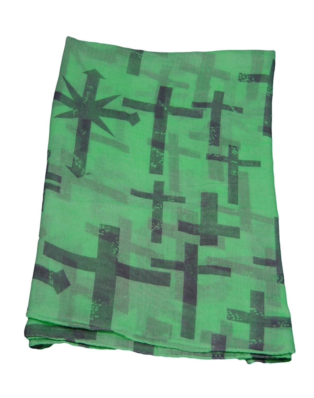 Distressed Cross Design Large Lightweight Fashion Scarf Shawl Wrap