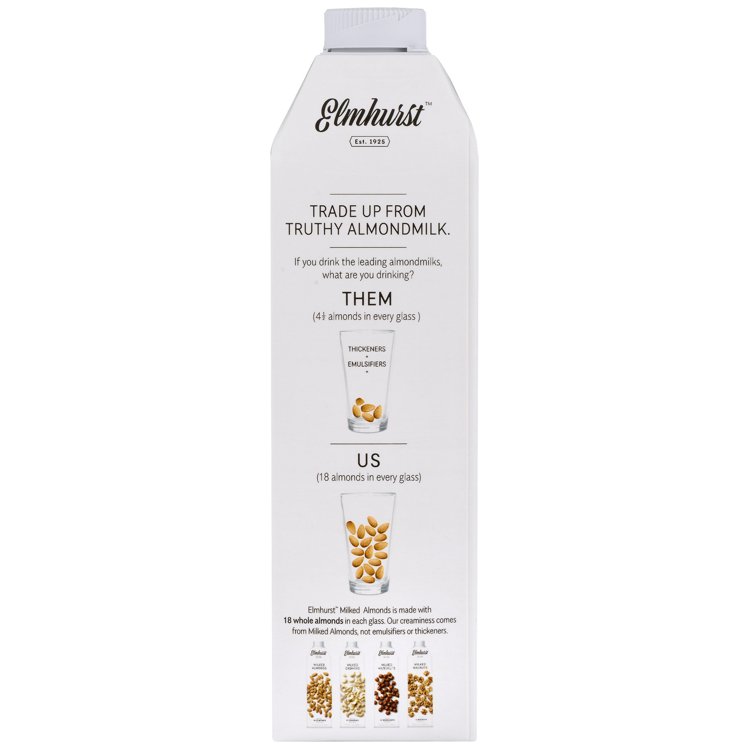 Elmhurst Milked - Almond Milk - 32 Fluid Ounces (Pack of 6) Only 5 Ingredients, 4X the Protein, Non Dairy, Keto Friendly, No Added Gums or Emulsifiers, Vegan by Elmhurst (Image #7)