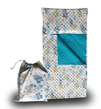 Panini Tessuti - Juego de guardería, saco de dormir y bolsa guardería, para niños de 2 a 6 años Orsetti e Nuvole Azzurro: Amazon.es: Bebé