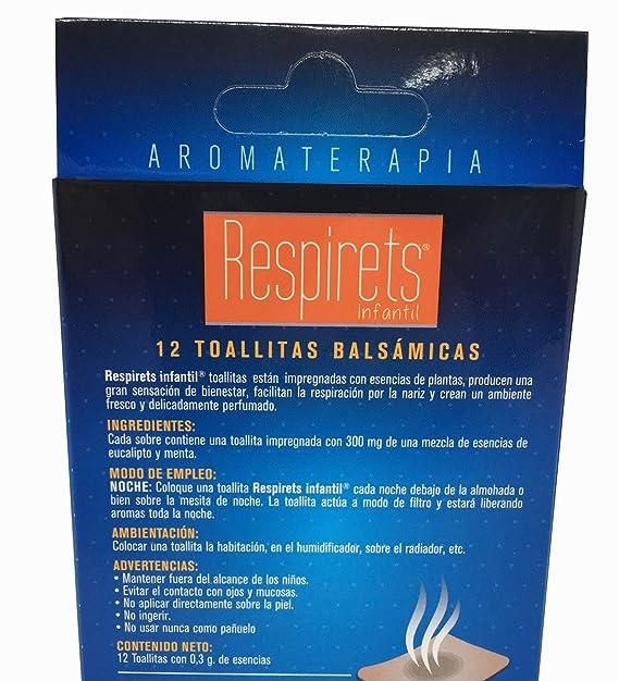 RESPIRETS CONFORT RESPIRATORIO 12 TOALLITAS INFANTILES: Amazon.es: Salud y cuidado personal