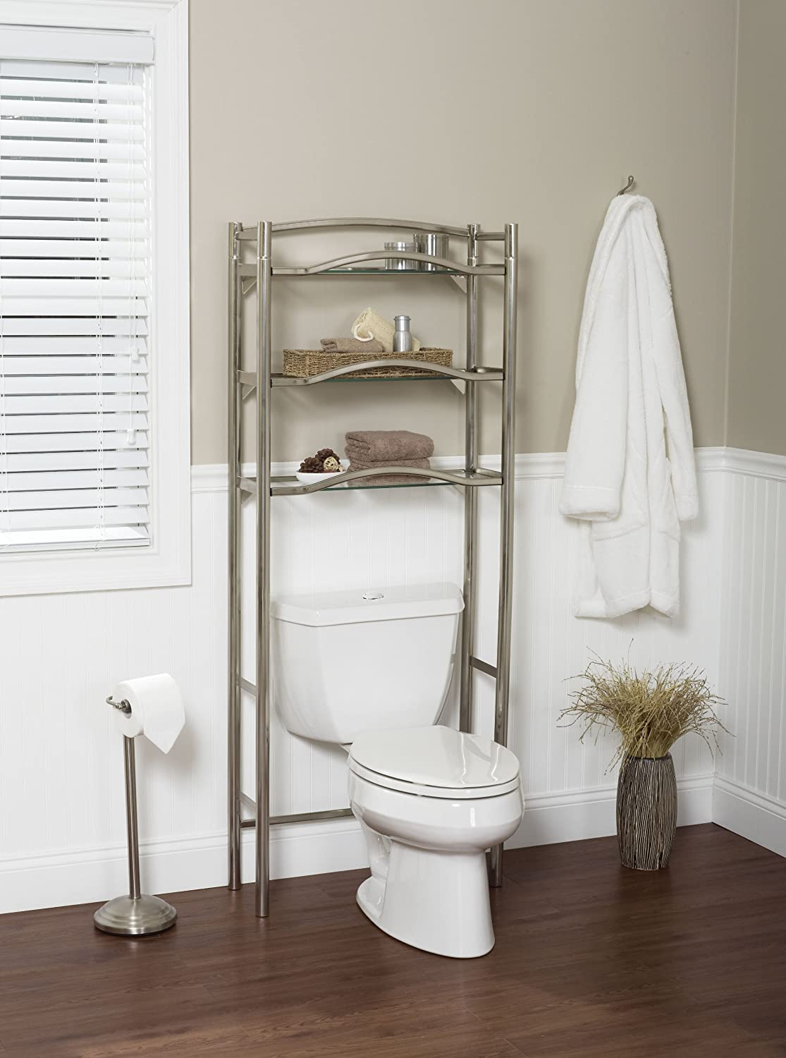 Amazon.com: Zenna Home 9070BN, Bathroom Spacesaver, Extended Height ...