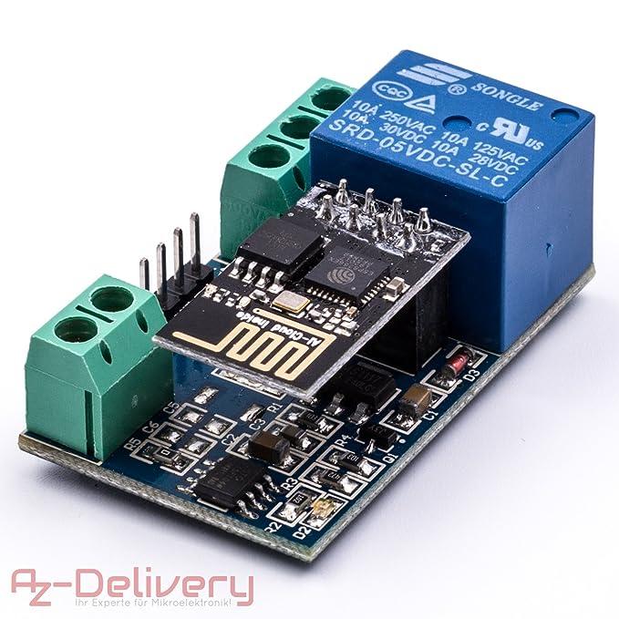 2 opinioni per AZDelivery ESP-01 ESP8266 01 Wifi Modulo per Arduino con adattatore relé con