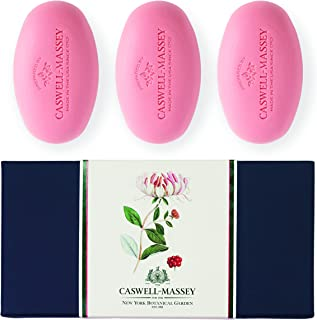product image for Caswell-Massey scented Women's Bar Soap, Set of Three Soap Bars, Honeysuckle, 9.75 Oz