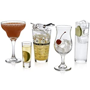 Libbey Mixologist 18-Piece Bar in a Box Cocktail Set
