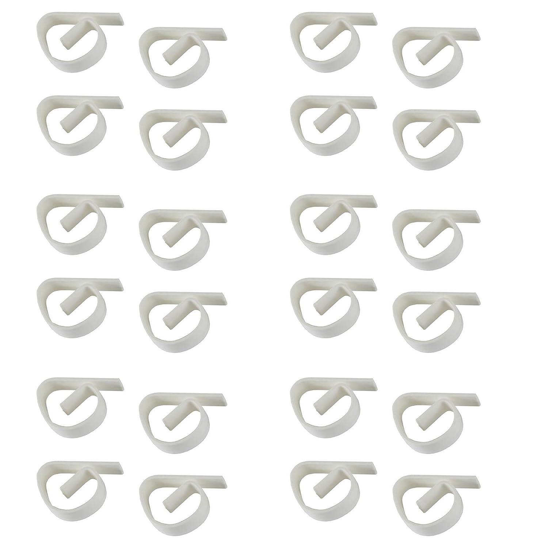 Lantelme 6237Set 24pinzas Mantel para mesa–tisck grapas de plástico transparente, robusta y impermeable para el hogar o en el jardín