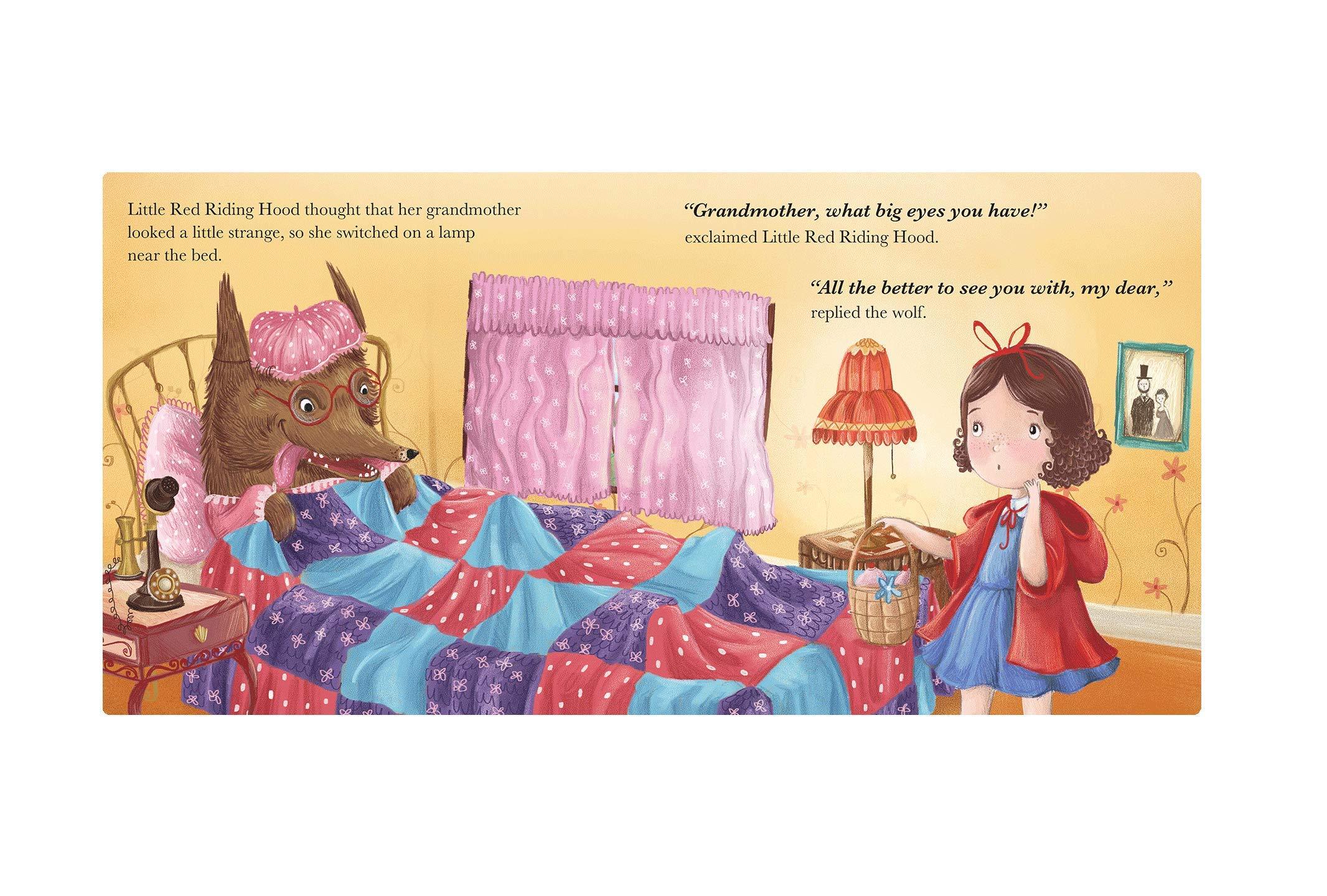 Berrywho 4PCS Set Little Red Riding Hood Jouet /éducatif de marionnettes Doigt danimal No/ël Jouets Storytelling Poup/ée Cartoon Finger Marionnettes pour Enfants Mignon Velours Animaux Finger Puppets