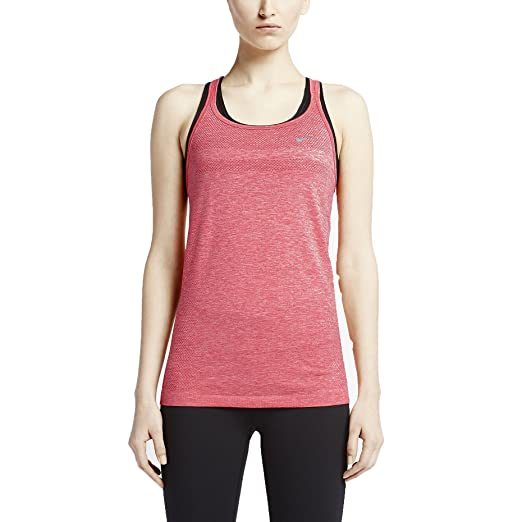 Amazon.com  Nike Women s Dri-Fit Knit Running Tank Top-Salmon-Large ... fd5557cc8
