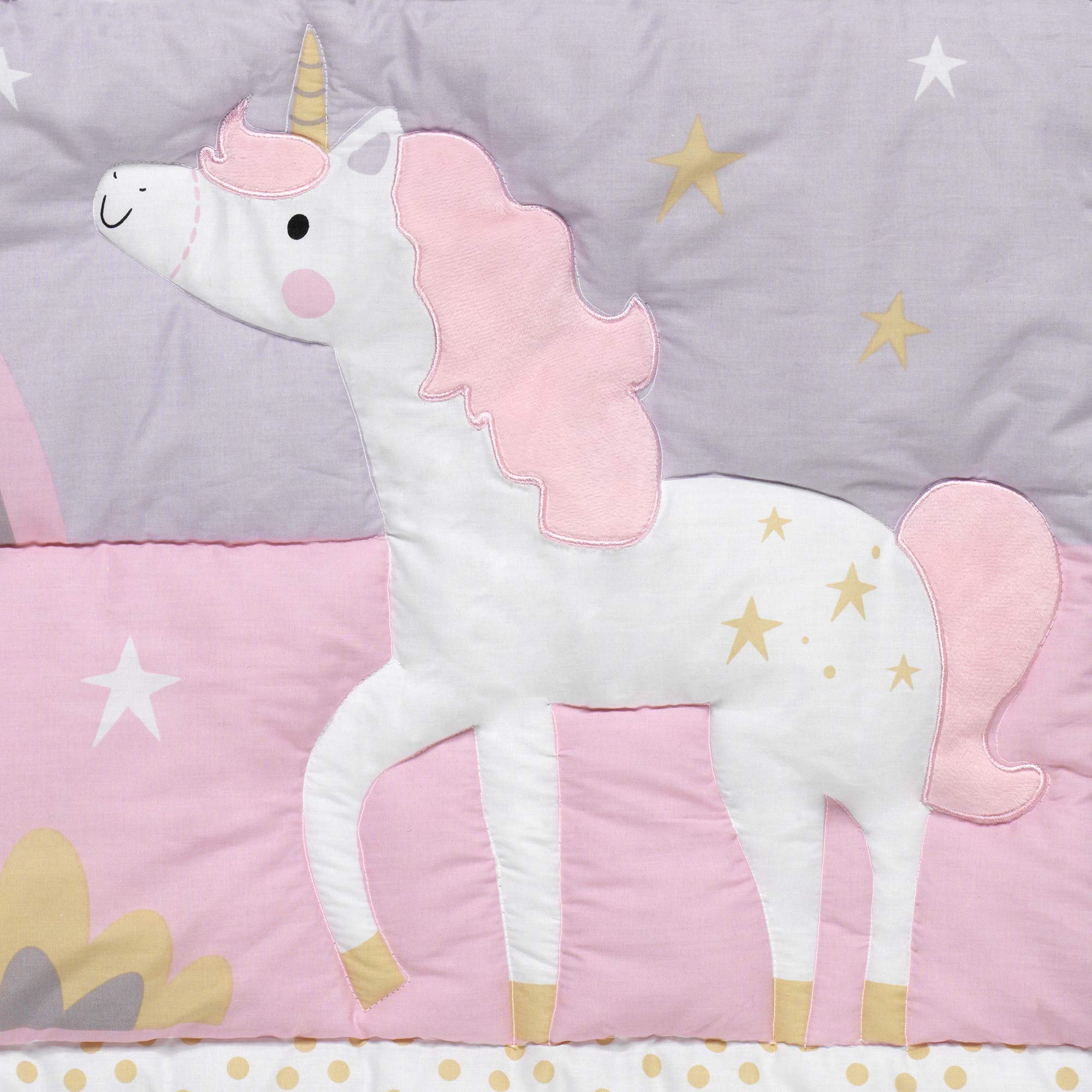 Bedtime Originals Rainbow Unicorn 3-Piece Crib Bedding Set, Purple by Bedtime Originals (Image #3)