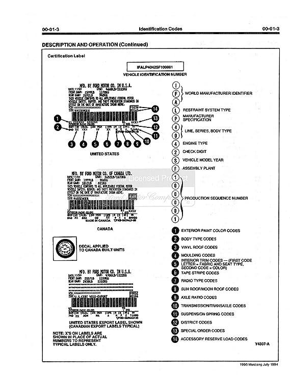 Amazon com: bishko automotive literature 1995 Ford Mustang