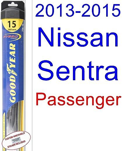 Amazon.com: 2013-2015 Nissan Sentra Wiper Blade (Driver) (Goodyear Wiper Blades-Hybrid) (2014): Automotive