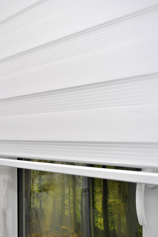 140 cm di larghezza catenella alternativa alla tenda o tenda plissettata colore bianco con peso largo Tenda avvolgibile doppia cassetta chiusa 250 cm di lunghezza