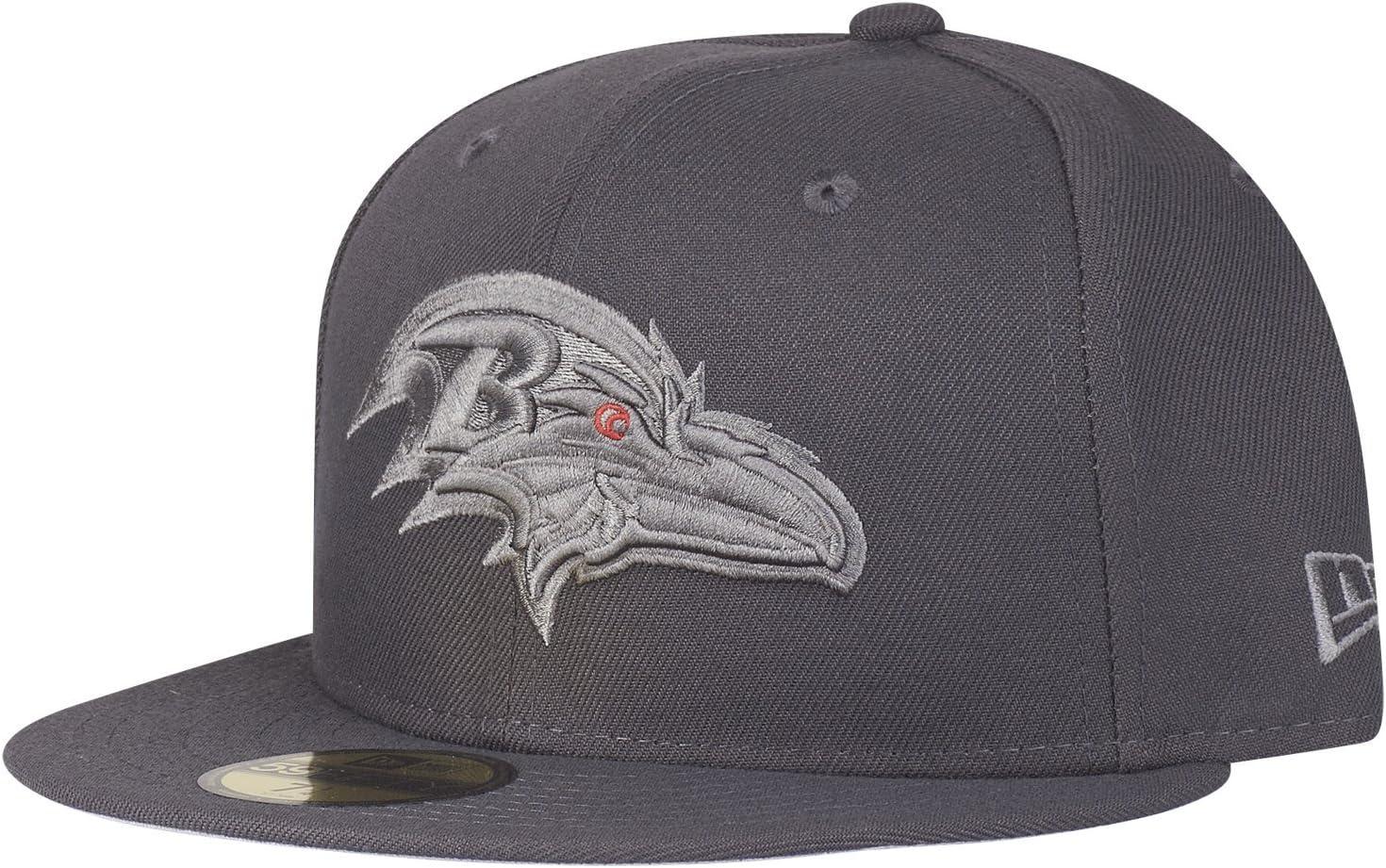 New Era 59Fifty Cap Graphite Baltimore Ravens