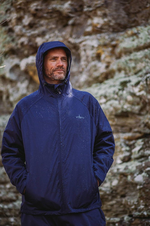 HABIT Mens Trapper Lake Packable Rain Jacket