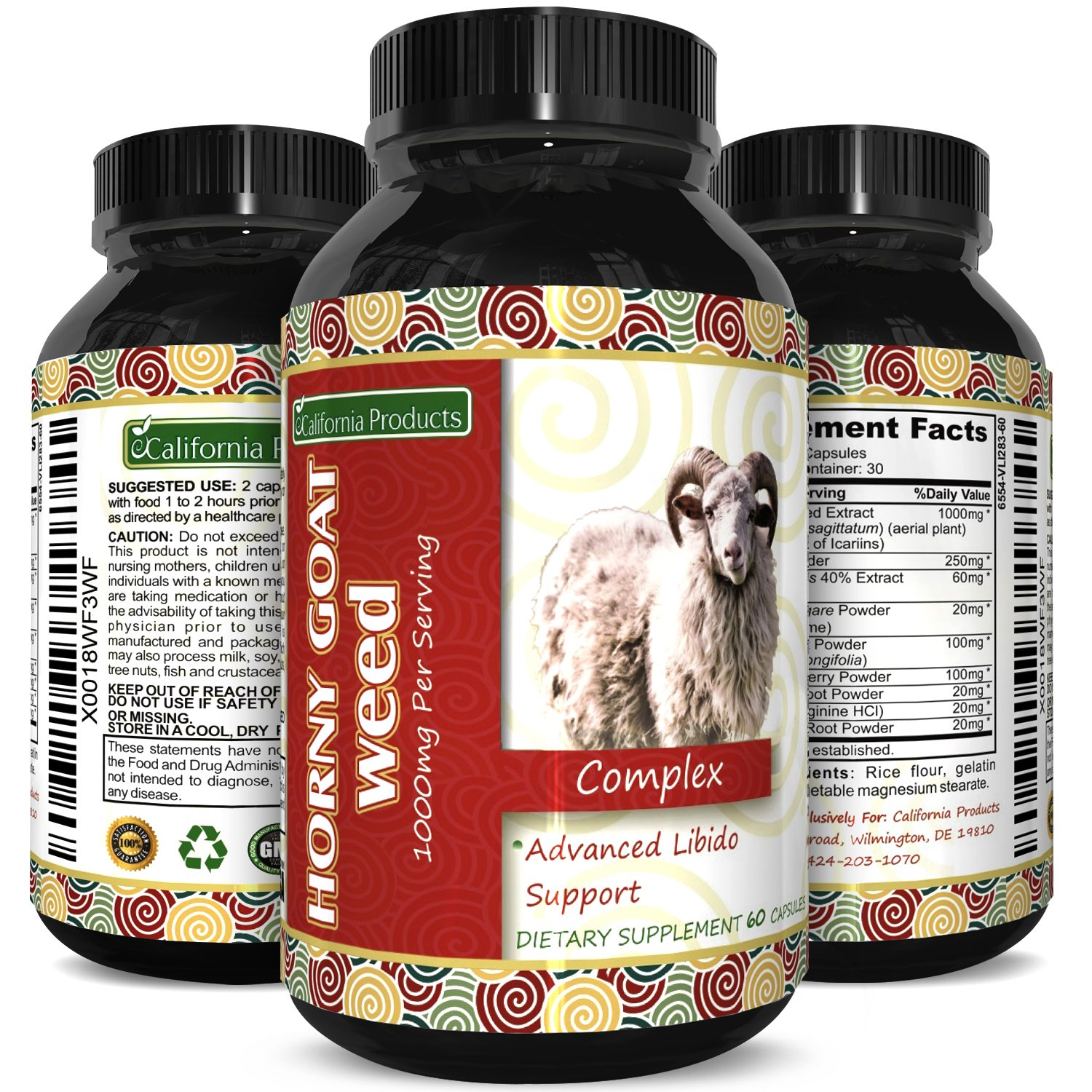 Horny Goat Weed Extract – Libido Supplement for Men & Women – Boosts Sex Drive & Increases Desire Naturally – Extra Strength Herbal Formula – With Maca Root & Tongkat Ali – By California Products by California Products (Image #2)