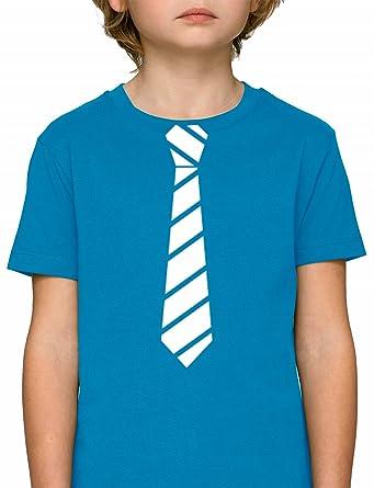 Sportlich Festlicher Style Schlips Premium Bio Baumwoll Mädchen Jungen  Kinder T-Shirt Stanley Stella Streifen cd2209a9d2