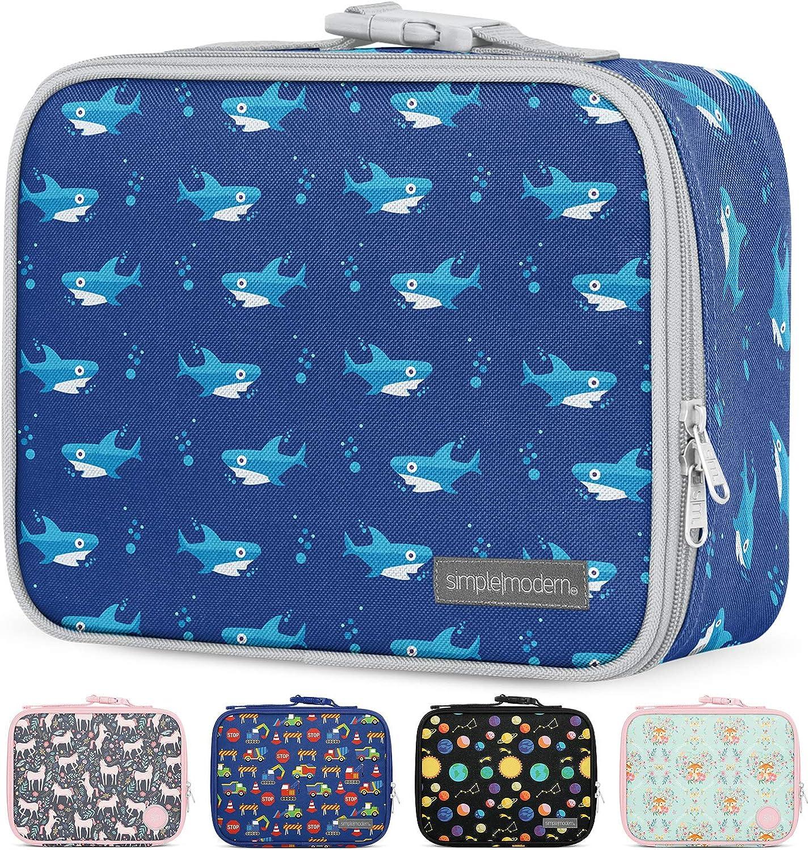Simple Modern 3L Hadley Lunch Bag for Kids - Insulated Women's & Men's Lunch Box Pattern: Shark Bite