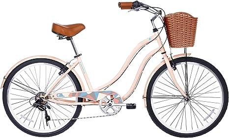 Gama Bicicletas Paseo marítimo de la Mujer Step-Thru 6 velocidades ...