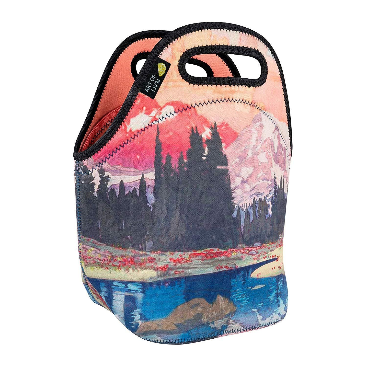 ART OF LUNCH Isulated Neoprene Lunch Bag for Women, Men and Kids, Reusable Soft Lunch Tote for Work and School - Design by Kijiermono (Portugal) - Storms over Keiisino