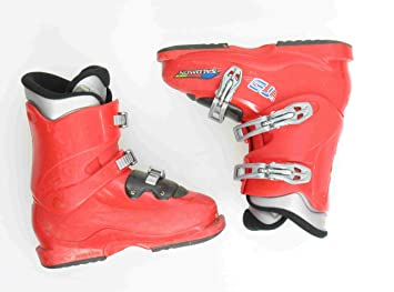 Amazon Com Used Ski Boots >> Salomon Performa T3 Ski Boots Used Teen 5 5 Red Black