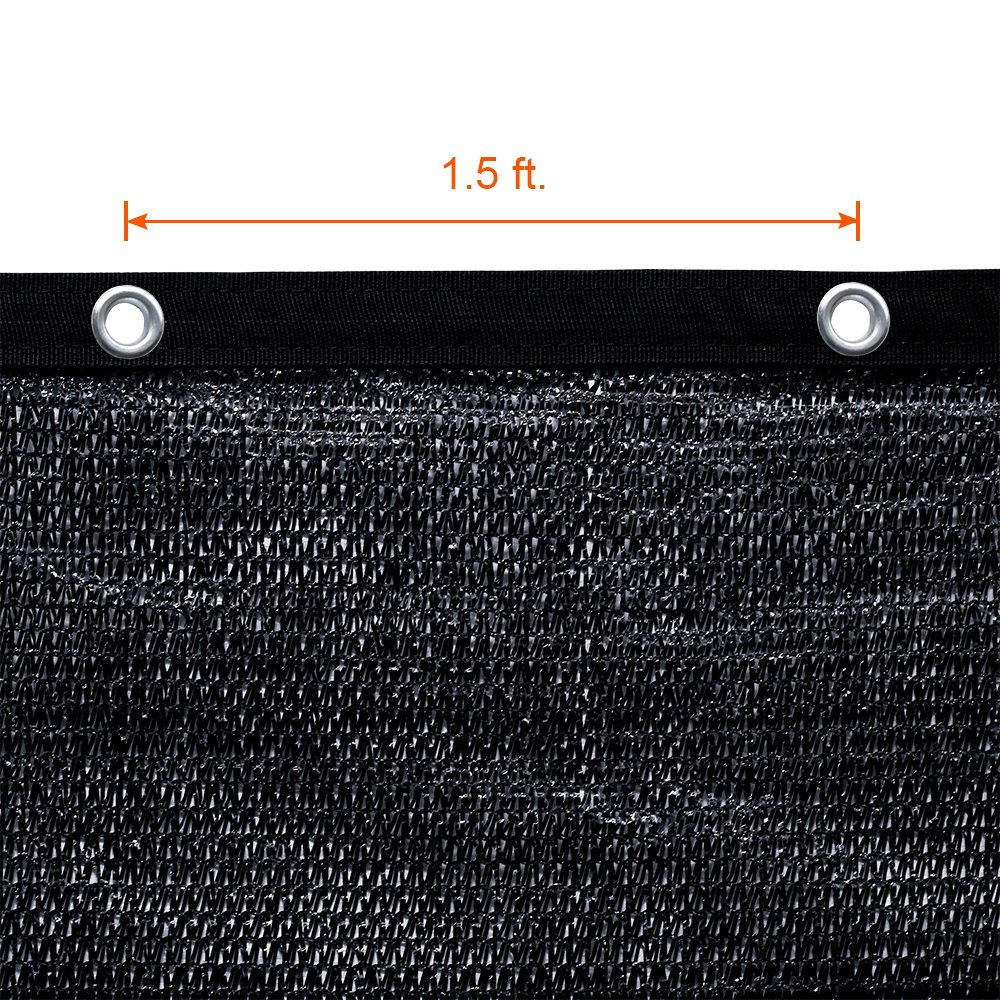 Agfabric 60% Greenhouse Shade Cloth Cover with Grommets 12' X 18', Black by Agfabric (Image #3)
