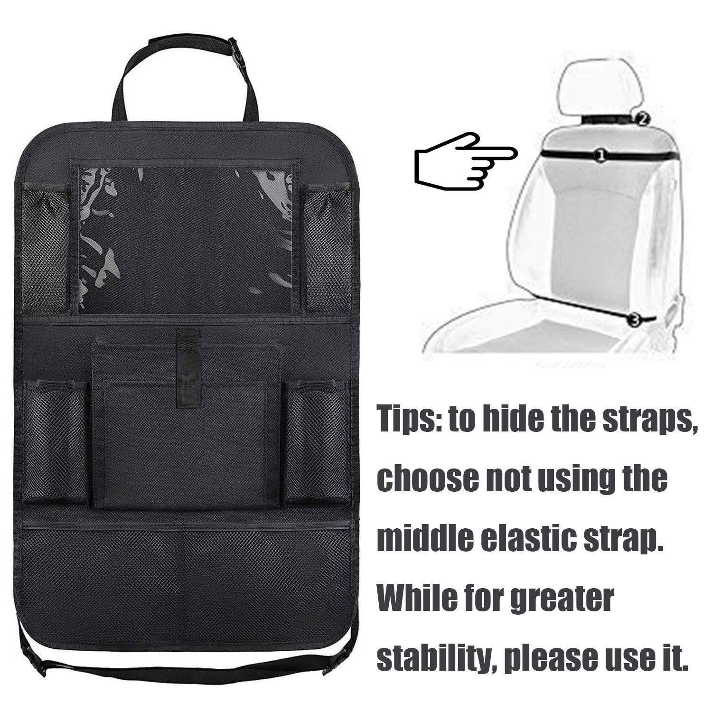 Car Seat Back Protector Kick Mats 600D Polyester 2 Pack CITKOU Enlarged Car Backseat Organizer