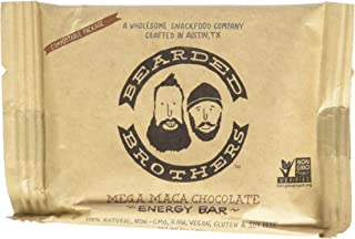 product image for Bearded Brothers Mega Maca Chocolate Energy Bar - Raw, Vegan, Gluten & Soy Free, Non-GMO, Bars, 12 Piece