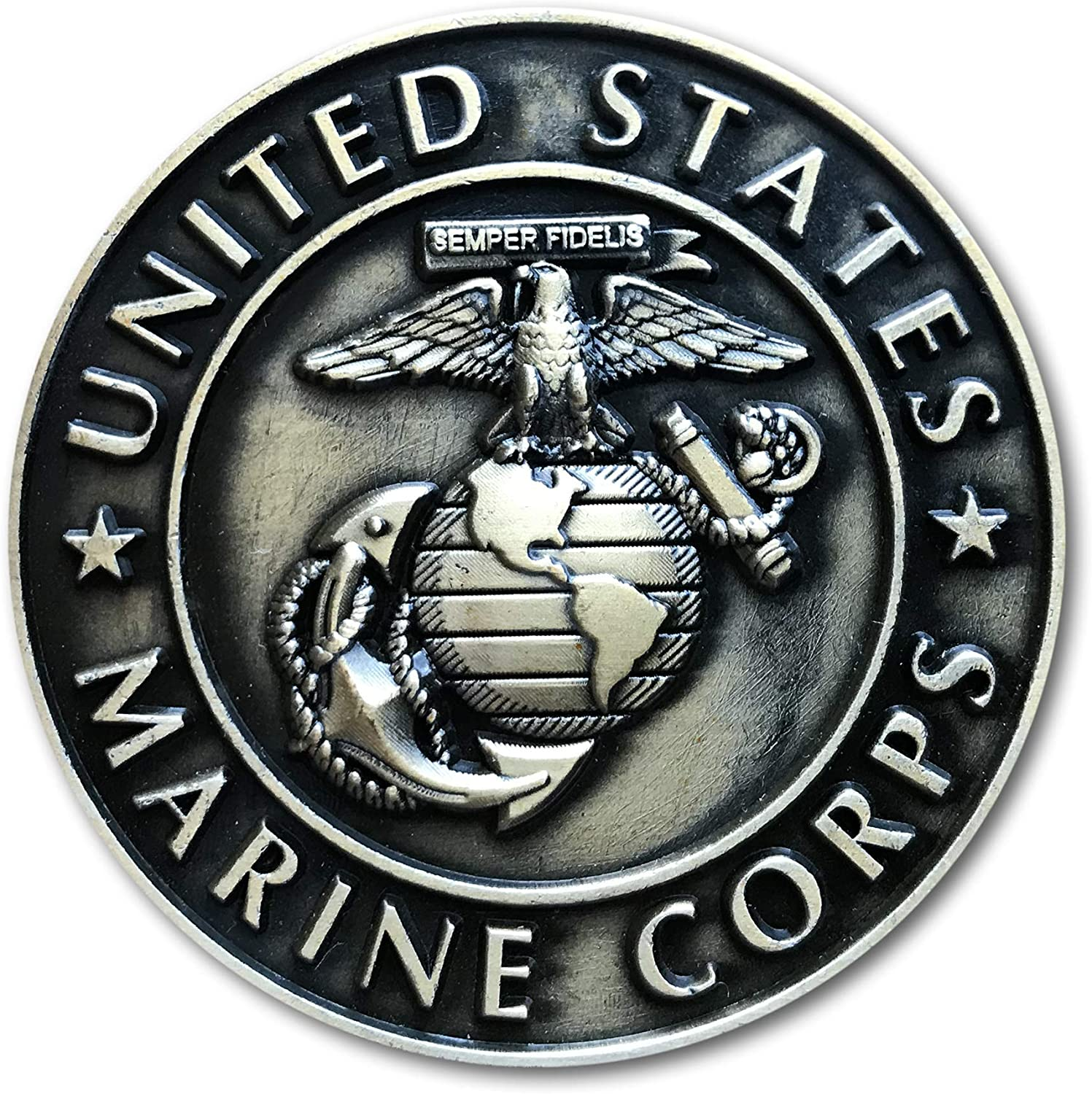 MARINE CORPS USMC MILITARY POLICE BADGE MAGNET PACKAGE SET OF 4